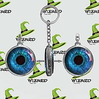 Брелок двухсторонний Глаз синий, фото 1