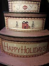 Коробки новорічні прямокутні (скринька)