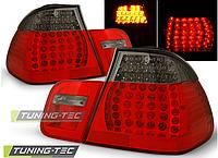 Оптика, задние фонари на BMW Е46, диодная, дымчато-красные