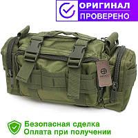 Тактическая универсальная (поясная, наплечная) сумка с системой M.O.L.L.E Olive (104-olive)
