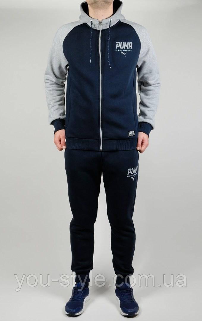Чоловічий зимовий спортивний костюм Puma 4538 Темно-синій