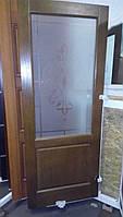 Межкомнатная дверь модель 9 дуб тёмный