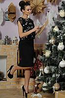 Модное платье прилегающего силуэта Лорен Ри Мари р.42-52 Черный