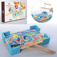 Деревянная игрушка Рыбалка MD 1128 (24шт) морские обитатели10шт,удочка на магните2шт,в кор,3-20-5см