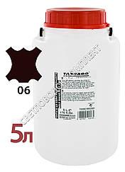 Краситель для подошв, рантов и каблуков Tarrago Self Shine Wax Ink, 5000 мл,цв. тем-коричневый TII65