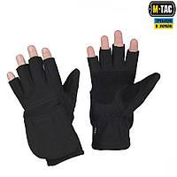 M-Tac перчатки беспалые с клапаном Windblock 295 Black