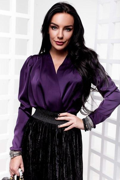 f7dda27e65b Блуза модная на запах шелк Армани разные цвета Rdi188 недорого. Цена ...