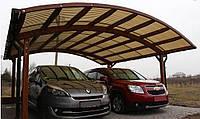 Деревянный навес для гаража DAXWOOD