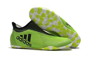 Футзалки 2017 Adidas X Tango 17+ Purespeed IC Yellow Black