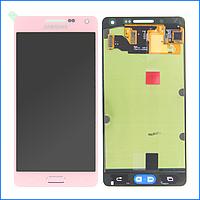 Дисплей (экран) для Samsung A500H Galaxy A5 (2015), A500F + тачскрин, розовый, Soft Pink, оригинал