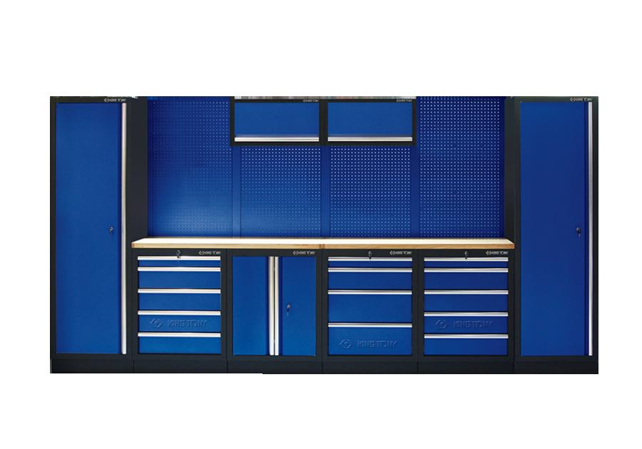 Рабочий модуль для хранения инструмента Габариты: 3920 x 460 x 2000мм KINGTONY