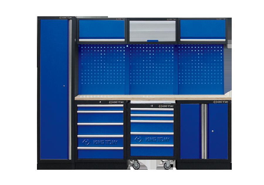 Рабочий модуль для хранения инструмента 2 синий Габариты: 2640 x 460 x 200мм