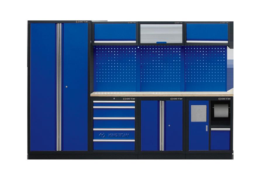 Рабочий модуль для хранения инструмента 3 синий Габариты: 2955 x 460 x 2000мм KINGTONY