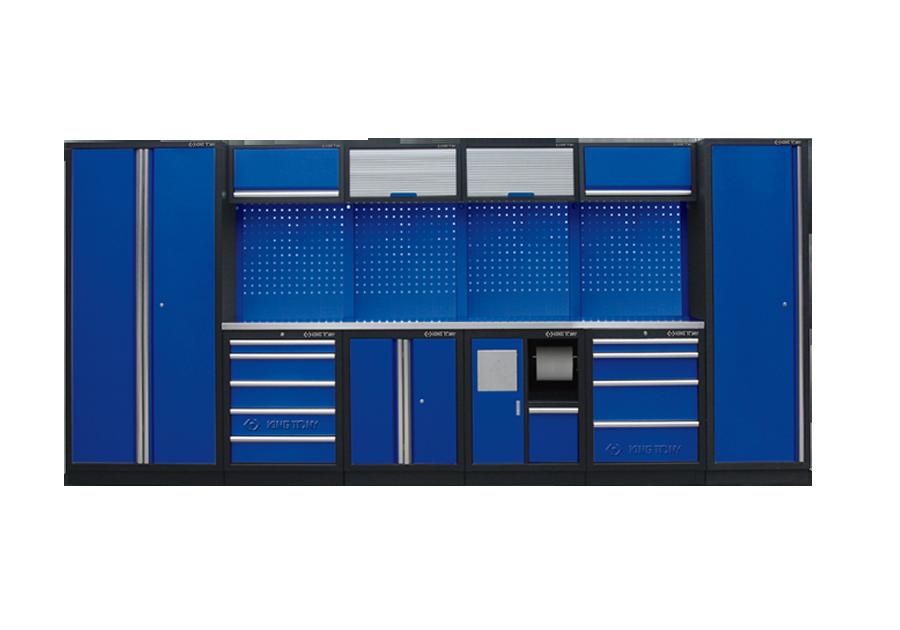 Рабочий модуль для хранения инструмента 4 синий Габариты 4235 x 460 x 2000 KINGTONY