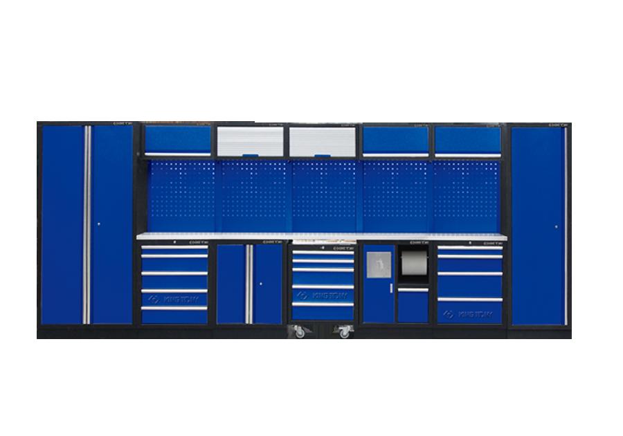 Рабочий модуль для хранения инструмента 0 синий Габариты 4885 x 460 x 2000 KINGTONY