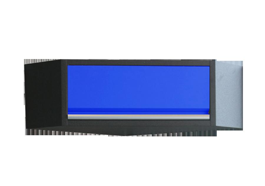 Навесной шкаф угловой синий