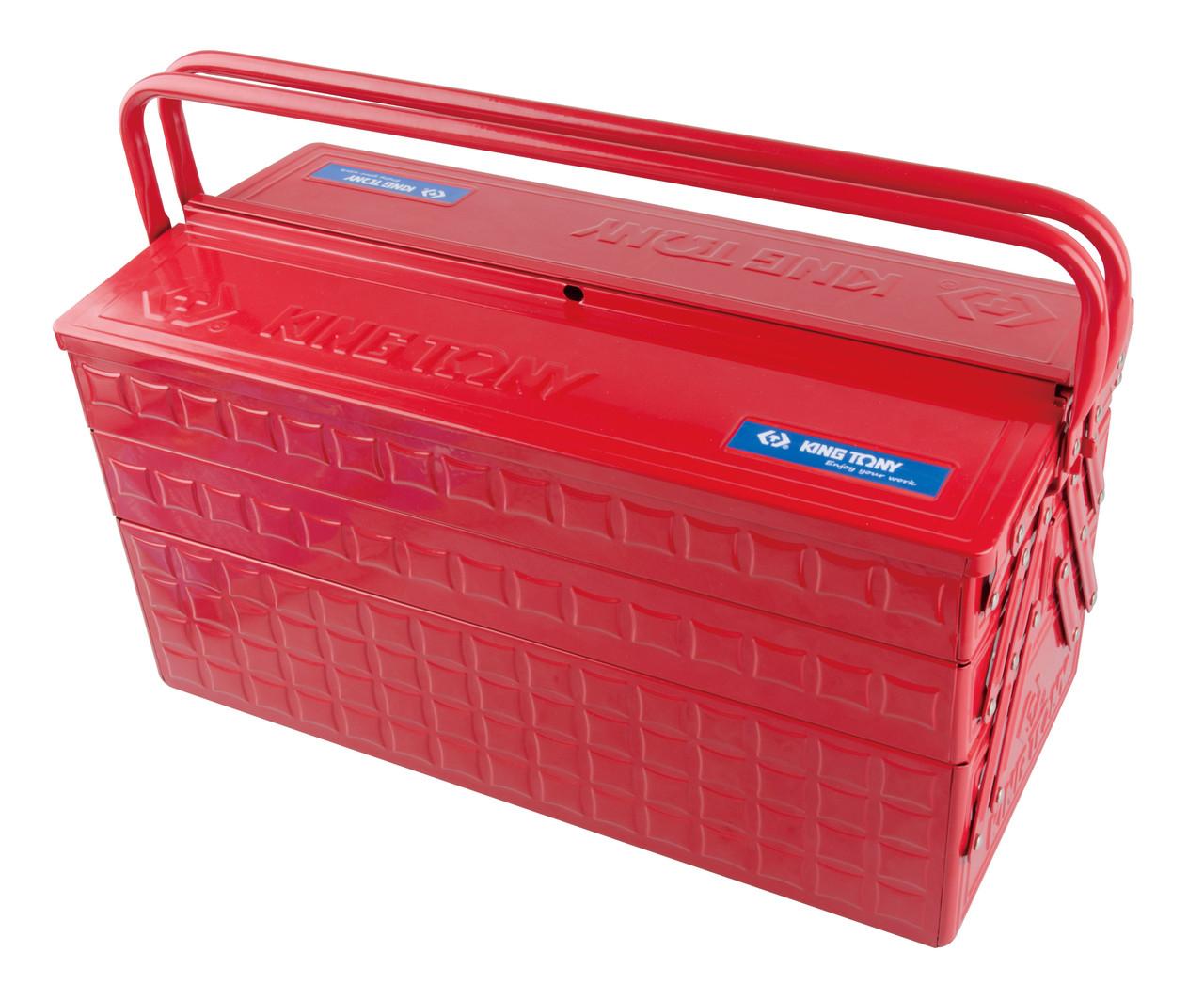 Ящик переносной для инструмента металлический красный KINGTONY