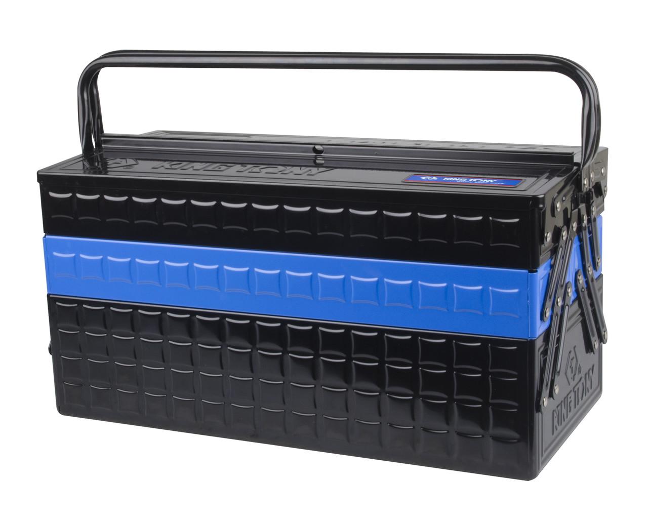 Ящик переносной для инструмента металлический Синий KINGTONY