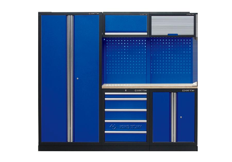 Рабочий модуль для хранения инструмента (black & blue) 2275 x 460 x 2000