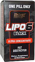 Жиросжигатель, Nutrex Research, Lipo-6 Black Ultra Concetrate, 60cap, фото 1