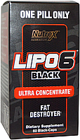 Жиросжигатель, Nutrex Research, Lipo-6 Black Ultra Concetrate, 60cap