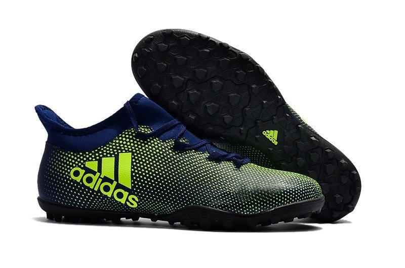 Мужские бутсы сороконожки adidas X Tango 17.3 TF green black