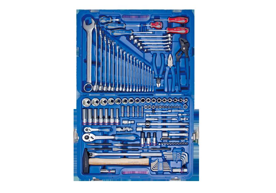 Набор инструментов универсальный 128 ед. 1/4'+1/2' с обычными трещотками KINGTONY