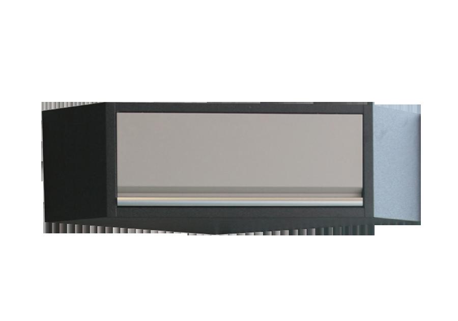 Навесной шкаф угловой серый