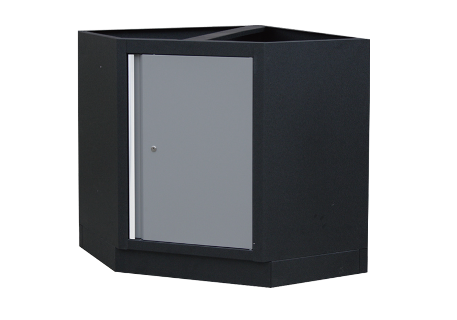 Шкаф инструментальный угловой серая. Габариты: 865 x 865 x 910мм KINGTONY