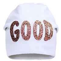 Зимняя шапка для девочки арт 17348 от 5 - 8 лет