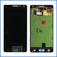 Дисплей (экран) для Samsung A500H Galaxy A5 (2015), A500F + тачскрин, черный, Midnight Black, оригинал 100%