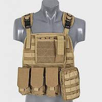 Разгруз. система Plate Carrier Harness койот ||M51611005-TAN