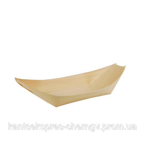 """Миска деревянная 215*100 """"Лодка"""" 50 шт,PapStar"""