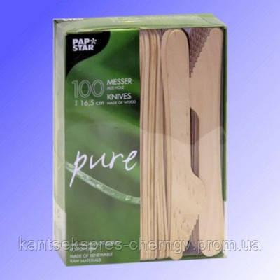 Нож деревянный 16,5 см 100 шт, PapStar