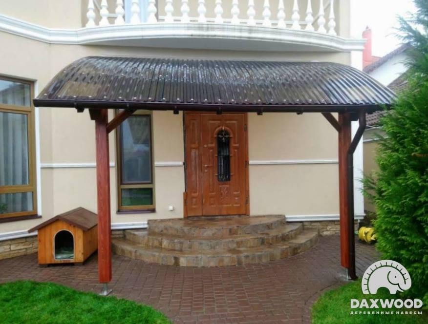 Деревянные козырьки и навесы к дому DAXWOOD