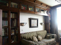 Библиотека-кабинет из натурального дерева