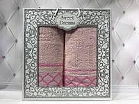 Подарочный набор полотенец Sweet Drems 2в1 (баня+лицо) №1-4
