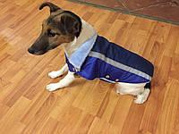 Жилет-попона мех для собак размер №2 синий