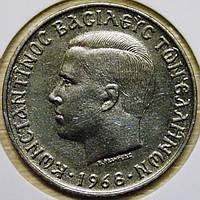 Монета Греции 10 драхм 1968 г