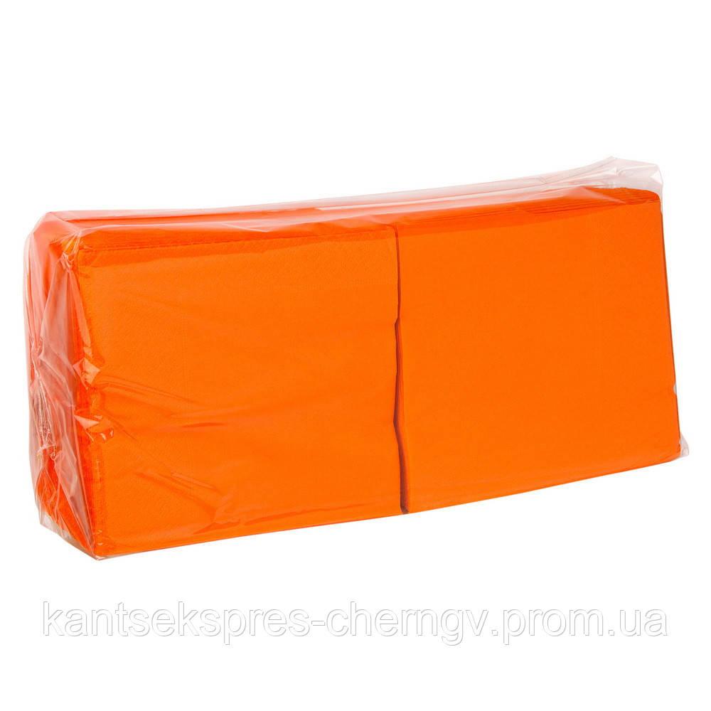 Серветки оранж. 33*33 2-х шар. 200 шт