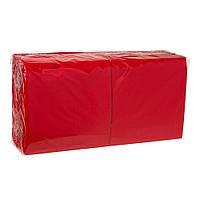 Салфетка красная  33*33 2-х шар. 200 шт/уп