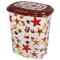 """Корзина для білизни Еlif Plastik, з малюнком """"Морські зірки"""""""