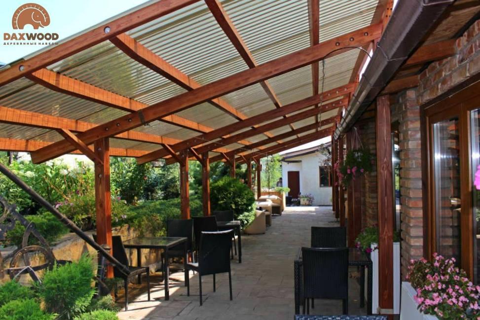 Деревянные летние террасы для кафе и ресторана DAXWOOD