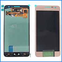 Дисплей (экран) для Samsung A300H Galaxy A3 (2015), A300F + тачскрин, розовый, Soft Pink, оригинал