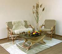 Набор плетенной мебели из ротанга Для отдыха №1 (диван+ кресло)