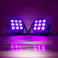 Прожектор концертного освещения, стробоскоп, светомузыка Led Par 9 x 12 w. RGBW 4in1