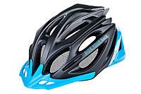 Шлем R2 Pro-Tec матовий Черный/синій M (56-58см) (ATH02M/M)