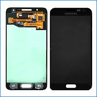 Дисплей (экран) для Samsung A300H Galaxy A3 (2015), A300F + тачскрин, черный, Midnight Black, оригинал
