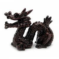Дракон с рогом каменная крошка коричневый (8х10 см) Код:21943