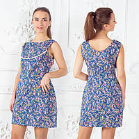 Летнее повседневное платье в цветочный принт